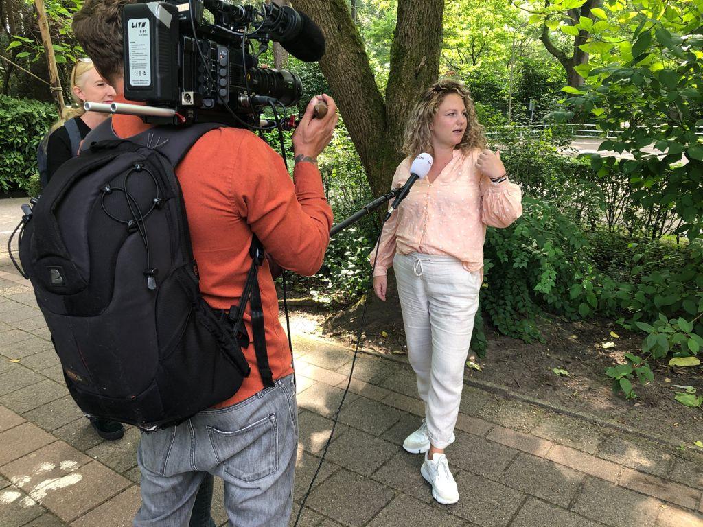 Linda van der Wal vertelt haar verhaal voor de camera