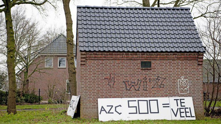 Protest tegen de komst van een azc. Beeld ANP