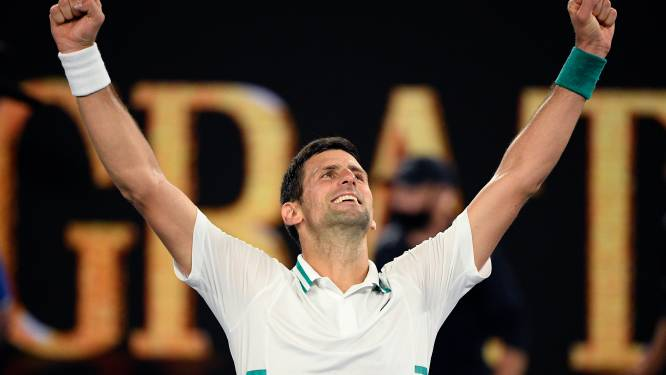 Djokovic wint 9de Australian Open na driesetter tegen Medvedev, Serviër sluipt met 18de grandslamzege dichter bij Federer en Nadal