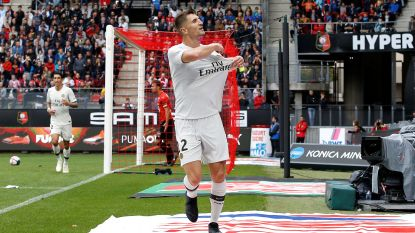 Meunier alweer belangrijk voor PSG: goal en assist nadat het op achterstand kwam in Rennes (1-3)