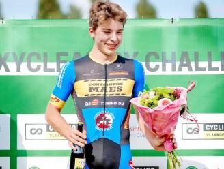 """Jori Van de Sompel heeft eerste crosszege beet: """"Leuk om in Knesselare te winnen, want het is niet ver van huis op een snel en technisch parcours"""""""