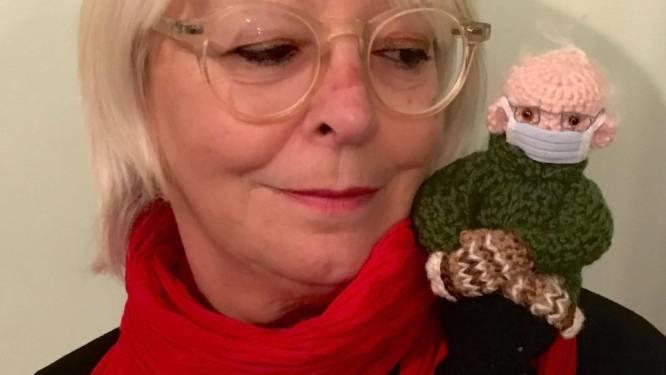 """Aalsterse haakt een Bernie Sanders-popje (mét typische wanten): """"Restjes wol gezocht en aan de slag gegaan"""""""
