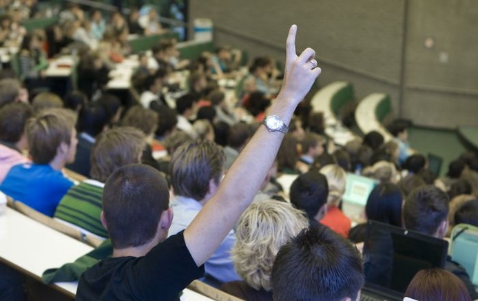 Studenten in een collegezaal. Foto: ANP