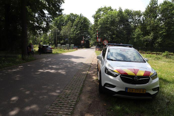Auto in botsing met goederentrein in Boxtel.