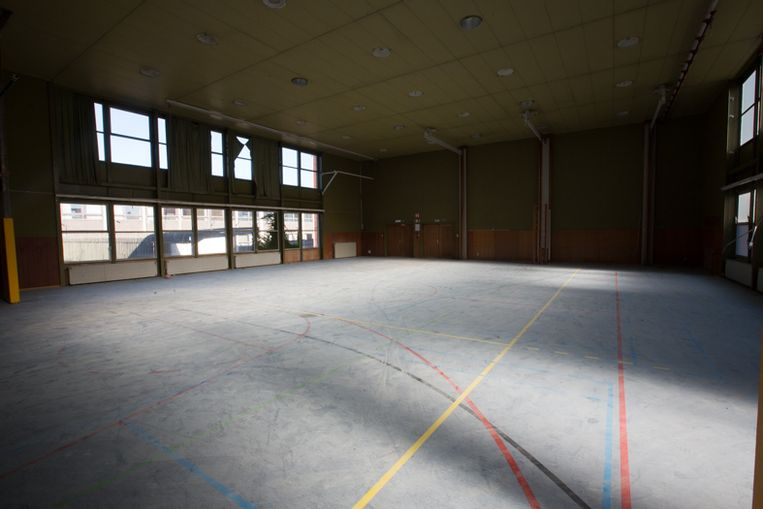 De vroegere sporthal.