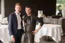 Joachim Boudens en Gert De Mangeleer verdelen dit weekend 150 afhaalboxen op vijf locaties.