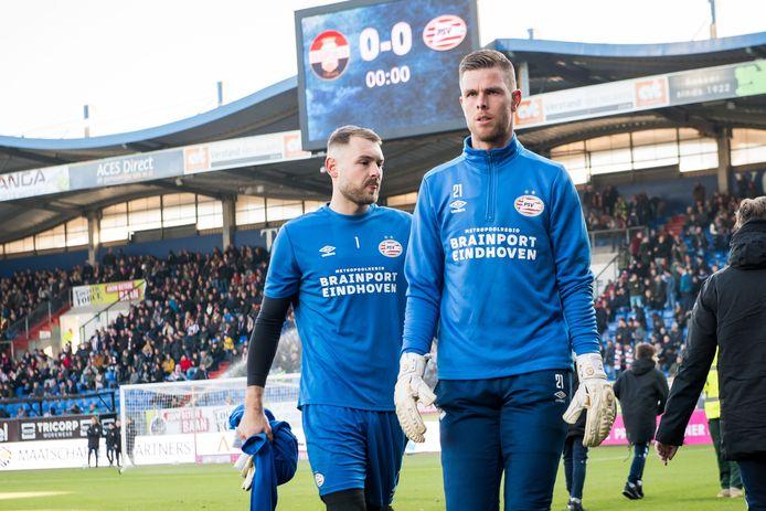 Robbin Ruiter, met achter hem Jeroen Zoet.