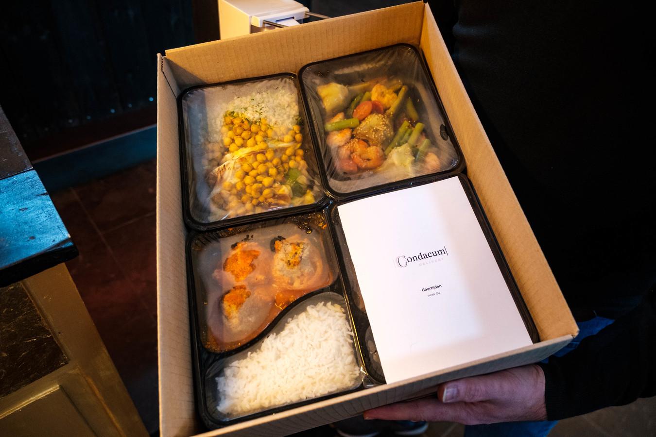 Een van de kant-en-klare maaltijdboxen van Condacum.