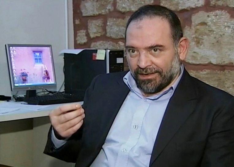 Lokman Slim tijdens een recent interview met Reuters.  Beeld Reuters