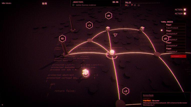 'Midnight Protocol', de hackinggame waaraan de Hasseltse studio LuGus momenteel bezig is. Beeld LuGus Studios