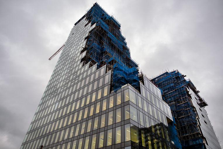 Bouwwerkzaamheden op de Zuidas in Amsterdam. Er komt een stadswijk voor wonen, werken en verblijf. Beeld Hollandse Hoogte