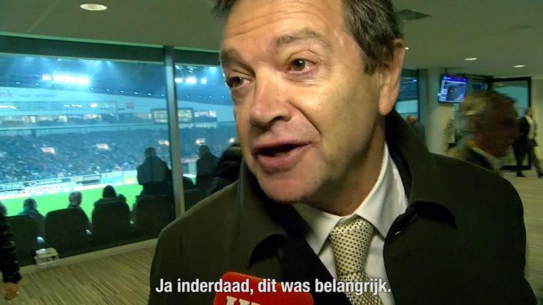 Een opgeluchte Michel Louwagie bij onze videoman