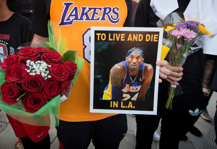 Fans van Los Angeles Lakers.