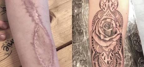 Tattooshop in Enschede tovert litteken om tot prachtig kunstwerk
