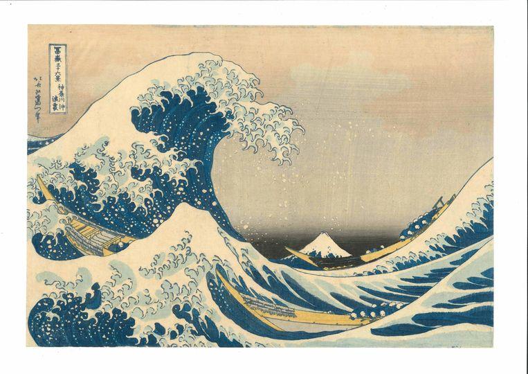 The Great Wave off Kanagawa door Katsushika Hokusai, 1831. Beeld RV - Van Gogh Museum