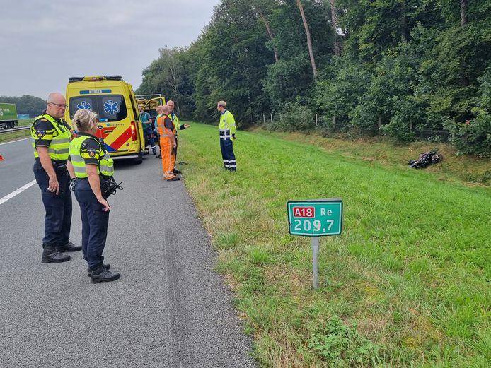 Motorrijder is zaterdagochtend van de weg geraakt.