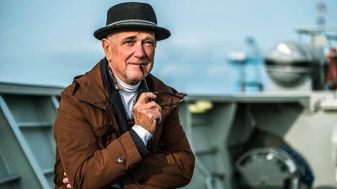 Hoofdrolspeler Gene Bervoets in Zeebrugge.