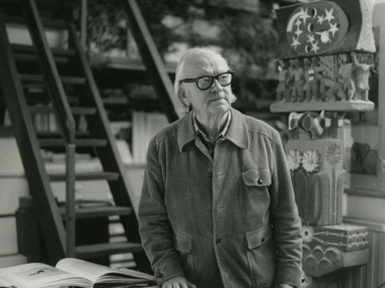 In de roman 'Nachtbouwer' krijgt architect Renaat Braem (foto) meer dan een bijrol. Beeld rv