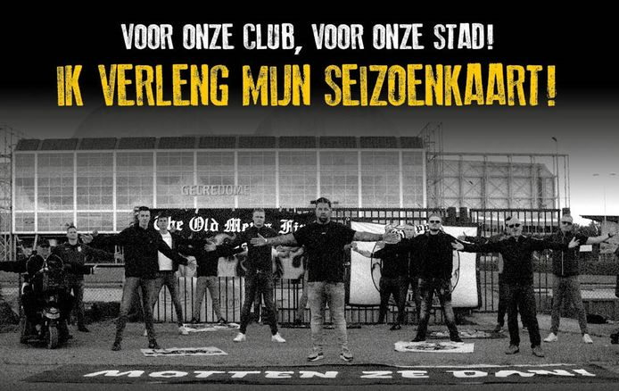 Vitesse verkoopt seizoenkaarten voor voetbaljaargang 2020/2021 onder het motto 'Motten ze dan!'. Theo Janssen (midden voor) is het boegbeeld van de campagne.