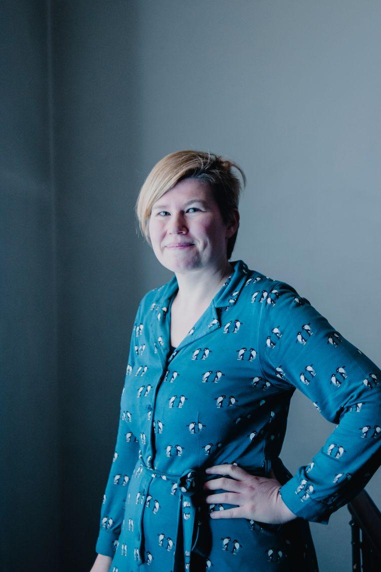 Mieke Van den Broeck: 'Mannen installeren een sfeer waarmee ze zichzelf in stand houden – een old boys network dat seksisme normaliseert.' Beeld Daniil Lavrovski