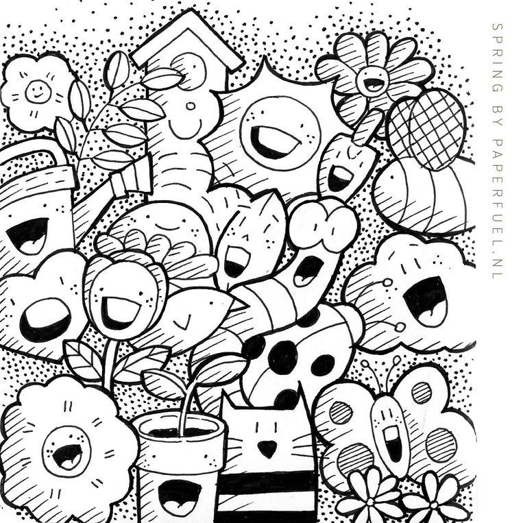 Tekeningen van Karin Luttenberg van Paperfuel. Beeld Paperfuel