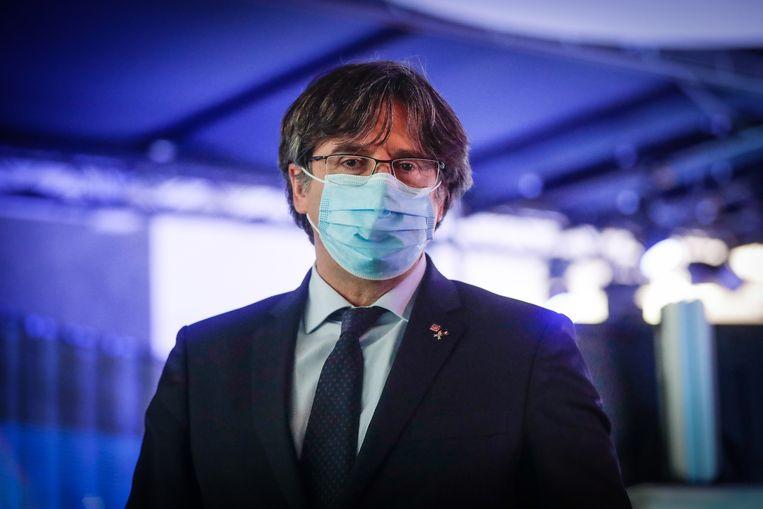 Puigdemont in het Europees Parlement in Brussel, in maart van dit jaar. Beeld EPA