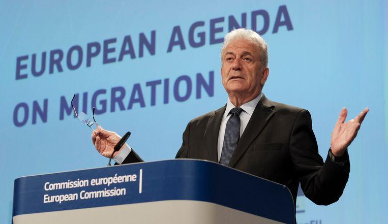 Eurocommissaris voor Migratie, Binnenlandse Zaken en Burgerschap Dimitris Avramopoulos. Beeld EPA
