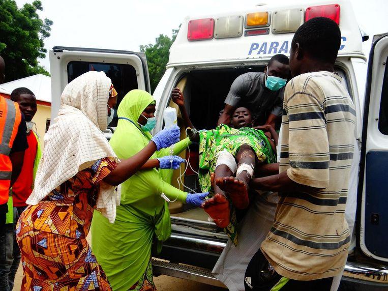 Beeld ter illustratie: gewonde bij een zelfmoordaanslag in Konduga in 2017.