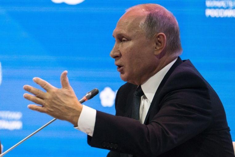 'Het waait wel over', aldus president Poetin. Beeld AP