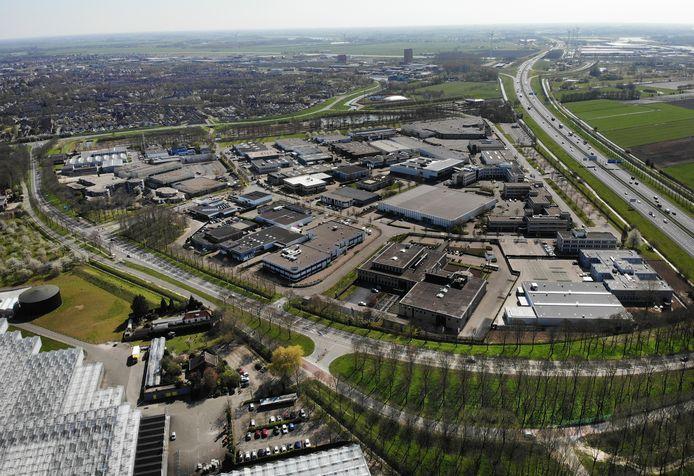 Bedrijventerrein Doornkade aan de A27 in Houten. Naast bedrijven moeten hier ook woningen komen, maar bij nader inzien op grotere afstand van de snelweg vanwege gezondheidsrisico's.
