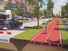 Zwolle heeft primeur met eerste plastic fietspad ter wereld