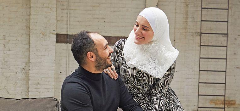 Rahaf (28) en Tamim (30) hadden elkaar nog nooit gezien toen ze trouwden