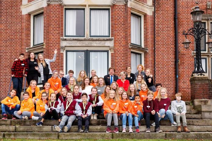 Zes kinderadviesraden ontmoetten prinses Laurentien vrijdag in Nijmegen. Foto's: Radboudumc