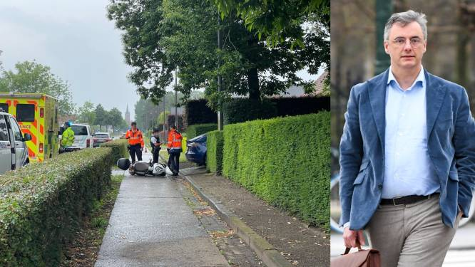 """Joachim Coens betrokken bij ongeval met bromfietsster: """"Ik hoop dat alles goed komt met haar"""""""