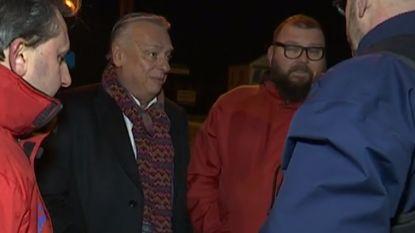 Burgemeester Patrick Dewael laat stakingsposten afbreken in Tongeren