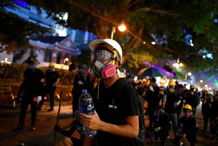 Het is al langere tijd onrustig in Hongkong. Beeld AFP
