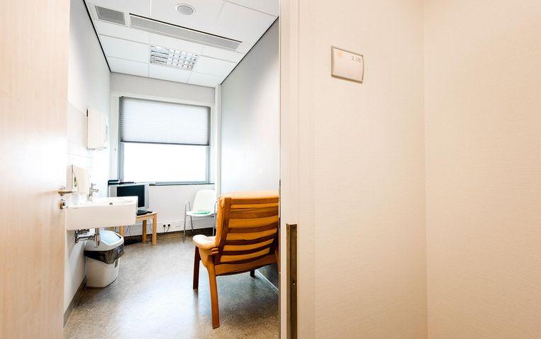 Een donorkamertje van het Medisch Centrum Kinderwens voor de donatie van sperma Beeld anp