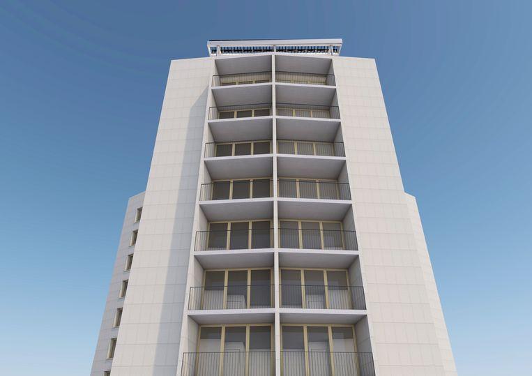Een impressie van een van de drie nieuwe Kielparktorens.
