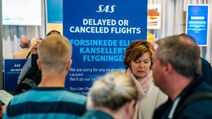 Luchtvaartmaatschappij SAS schrapt morgen 587 vluchten wegens staking piloten