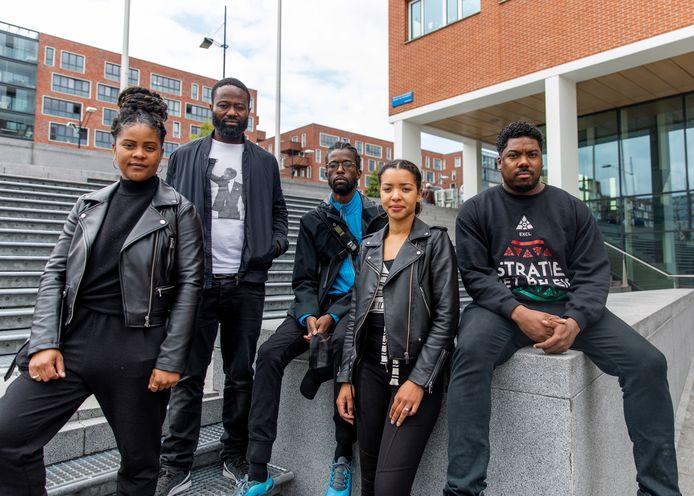 Black Lives Matter: Samantha Everduim, Jerry Afriyie, Levison Gijsbertha, Joyce Kiba, Gideon Everduim.