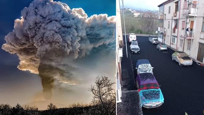Nieuwe uitbarsting van vulkaan Etna: dorpen in de buurt bedekt met aslaag
