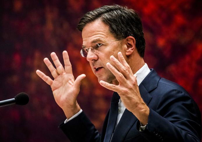 Volgens Rutte is er 'niks geks gebeurd'.