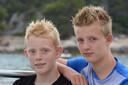 Nikai Kroes en zijn twee jaar oudere broer Jessin.