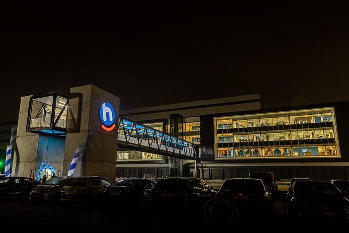 Het nieuwe distributiecentrum van Hoogvliet op bedrijventerrein Prisma in Bleiswijk, bij Zoetermeer.
