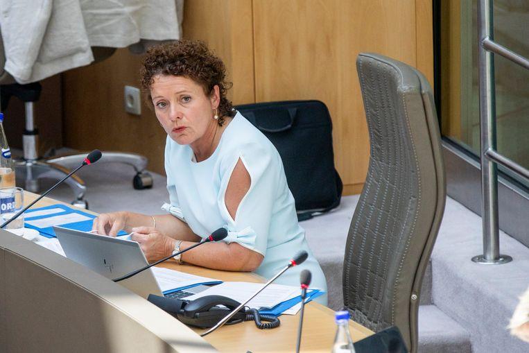 Vlaams minister van Mobiliteit Lydia Peeters (Open Vld). Beeld BELGA