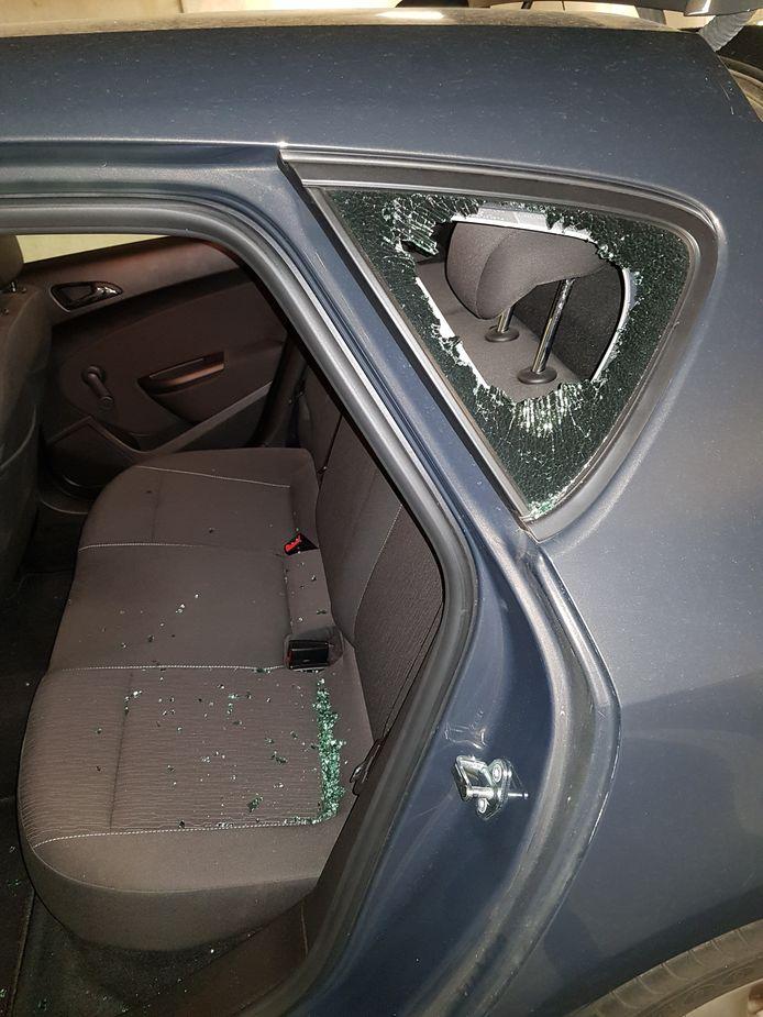 De schade bij een auto-inbraak bij een van de werknemers van ScanSource.