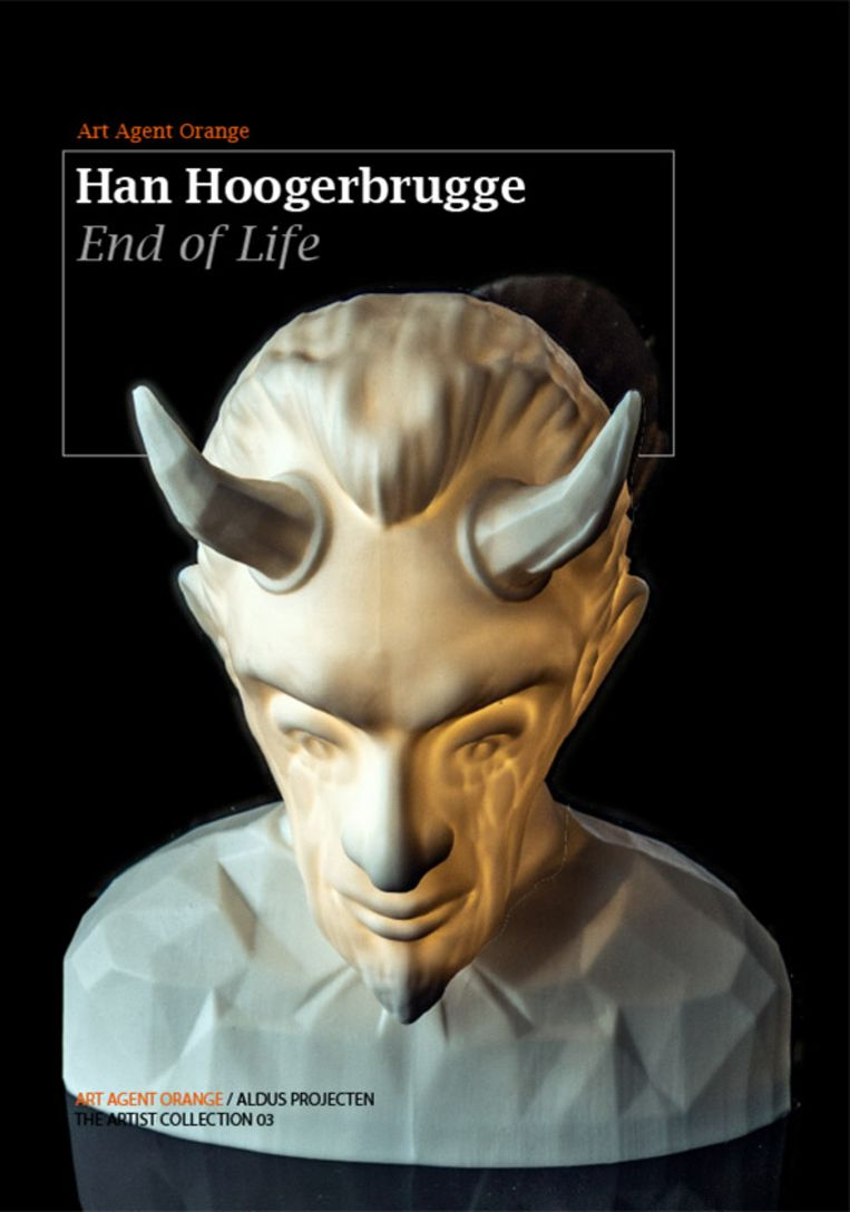 Omslag van het boek 'End of Life'  van Han Hoogerbrugge, naar aanleiding van het einde van Flash Player. Beeld Art Agent Orange