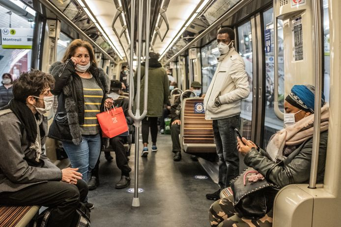 Metropassagiers in Parijs, vorig jaar.