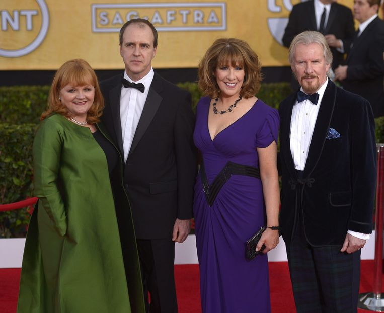 Lesley Nicol, Kevin Doyle, Phyllis Logan and David Robb (allen personeel) Beeld ANP