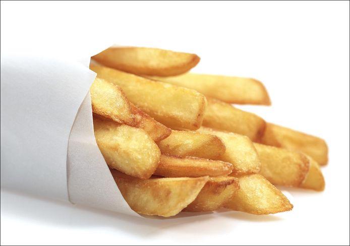 Op het buurtfeest kan je smullen van frietjes.